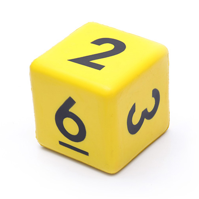 Custom-color-size-shape-kids-pu-dice